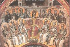 ikona przedstawiająca ojców Soboru w Nicei (325)
