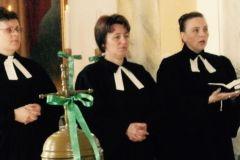 nabożeństwo w Słowackim Kościele Ewangelickim A. W. - ks. Anna Petrović pierwsza od prawej
