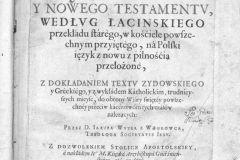 BIblia Jakuba Wujka