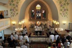 nabożeństwo w kościele ewangelicko-augsburskim w Orzeszu