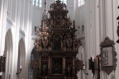 ołtarz w luterańskim kościele św. Piotra w Malmö (Szwecja)