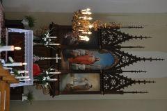 Ołtarz w kościele ewangelicko-augsburskim w Rypinie