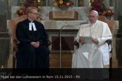 Papież Franciszek w rzymskim kościele luterańskim