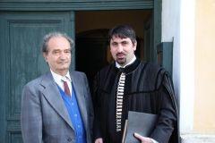 ks. Uwe Seidner z kuratorem Parafii Wolkendorf, p. Reinhardem Beer