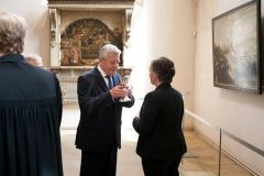 nabożeństwo inauguracyjne - prezydent Gauck podczas Komunii