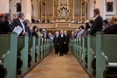 procesyjne wejście do Kościoła Miejskiego podczas nabożeństwa inaugurującego posiedzenie Rady ŚFL