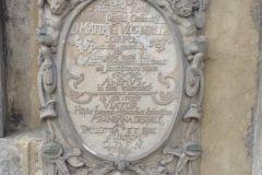 Płyta nagrobna M. Vechnera, królewskiego lekarza i przyjaciela ks. Waleriusza Herbergera