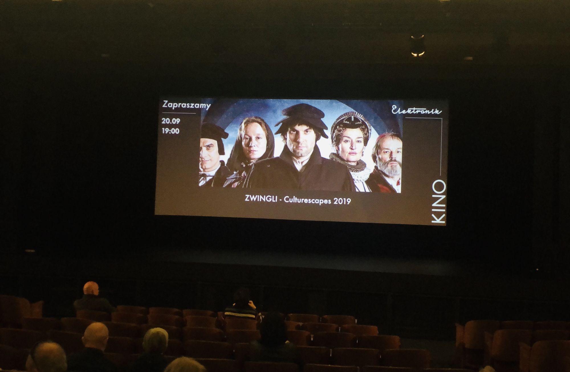 projekcja filmu Zwingli w kinie Elektronik
